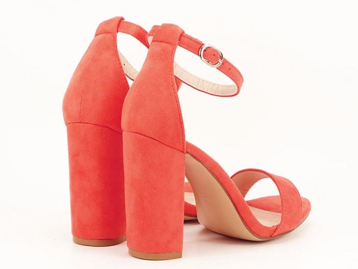 Sandale portocalii dama cu toc inalt Mathilde 2 6