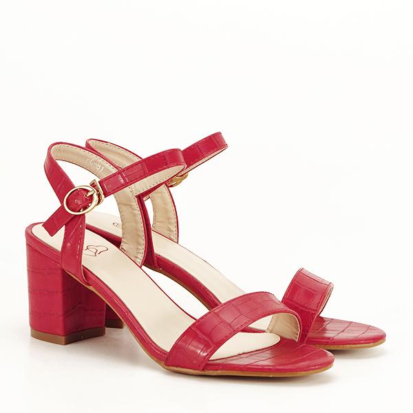 Sandale rosii cu imprimeu Violeta [3]
