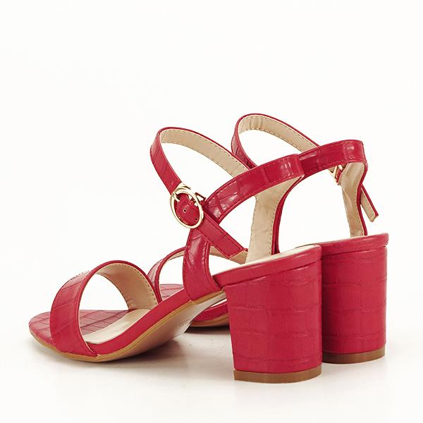 Sandale rosii cu imprimeu Violeta [4]