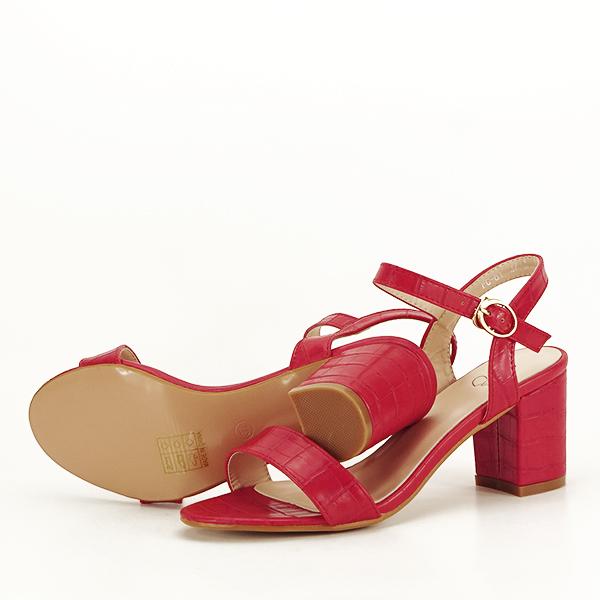 Sandale rosii cu imprimeu Violeta [7]