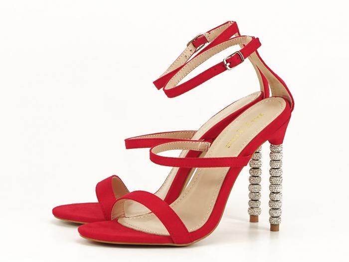 Sandale rosii elegante cu toc inalt Delia 6