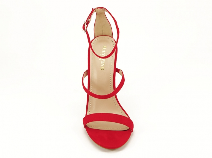 Sandale rosii elegante cu toc inalt Delia 5