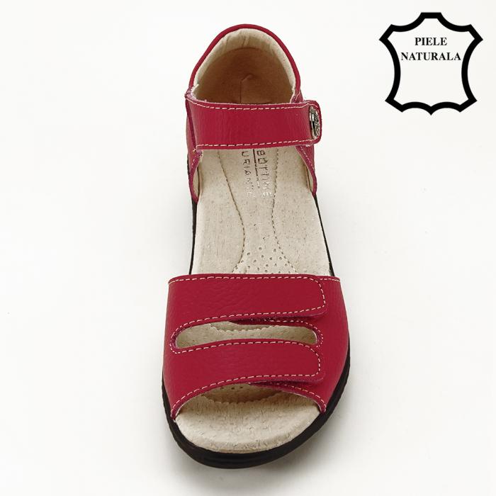 Sandale rosii din piele naturala Agata 2
