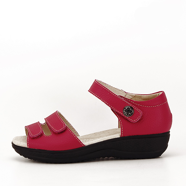 Sandale rosii din piele naturala Agata 0