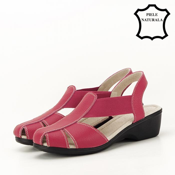 Sandale rosii din piele naturala Codruta 1