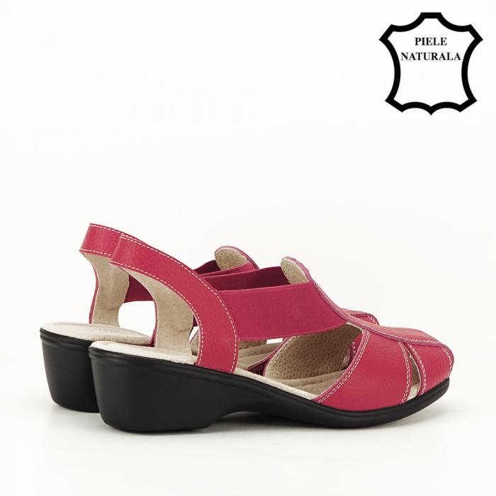 Sandale rosii din piele naturala Codruta 3