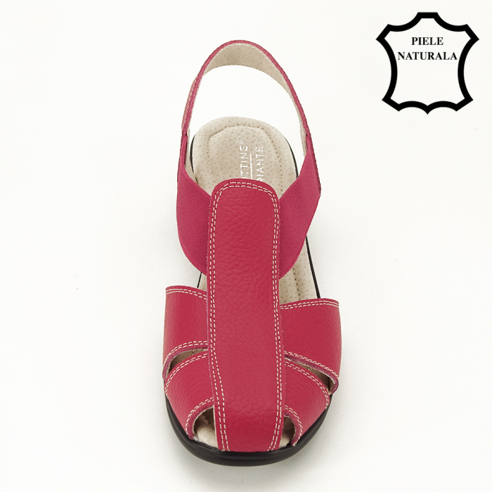 Sandale rosii din piele naturala Codruta 2