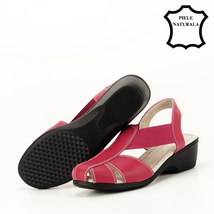 Sandale rosii din piele naturala Codruta 4