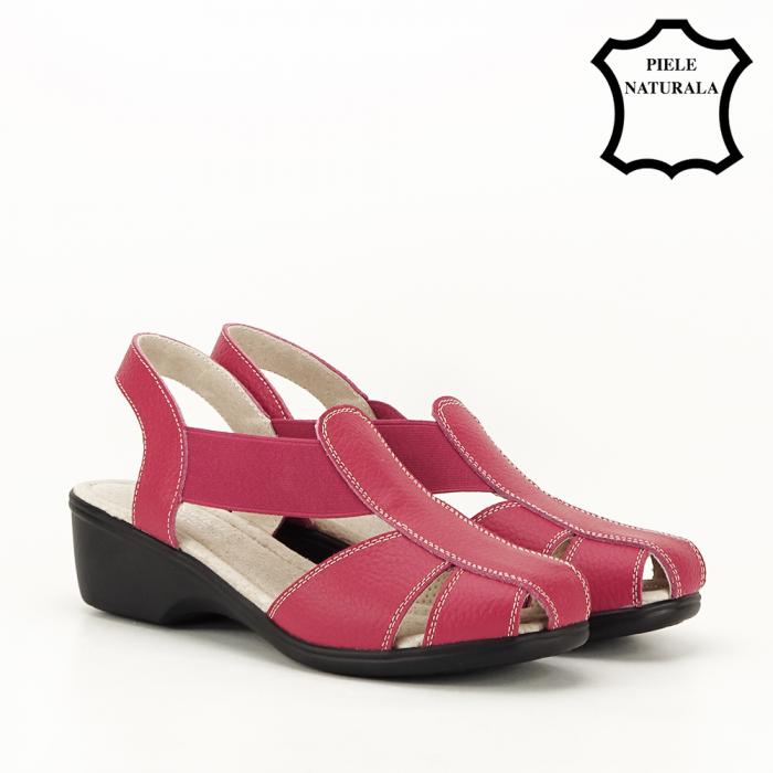 Sandale rosii din piele naturala Codruta 5