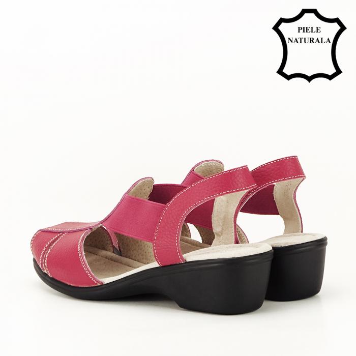 Sandale rosii din piele naturala Codruta 6
