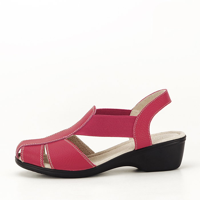 Sandale rosii din piele naturala Codruta 0
