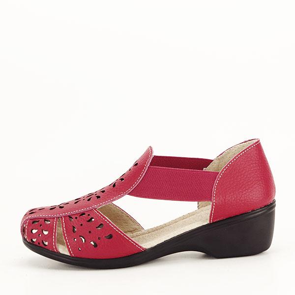 Sandale rosii din piele naturala Ozana [0]