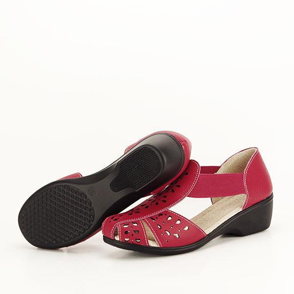 Sandale rosii din piele naturala Ozana [7]