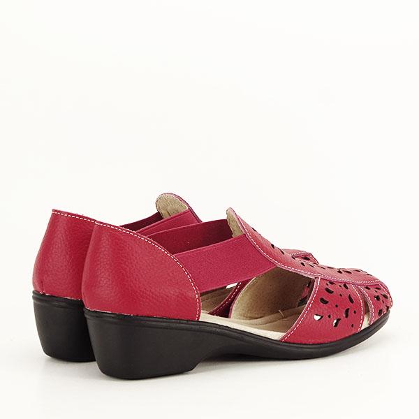 Sandale rosii din piele naturala Ozana [4]