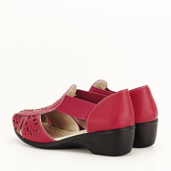 Sandale rosii din piele naturala Ozana [3]