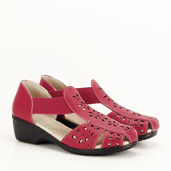 Sandale rosii din piele naturala Ozana [2]