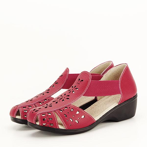 Sandale rosii din piele naturala Ozana [1]