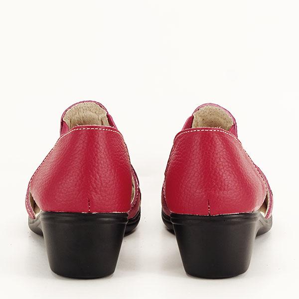 Sandale rosii din piele naturala Ozana [5]