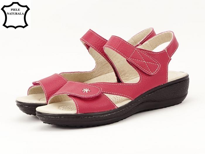 Sandale dama rosii din piele naturala Sara 7