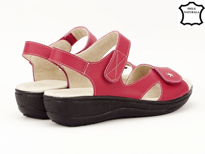 Sandale dama rosii din piele naturala Sara 4