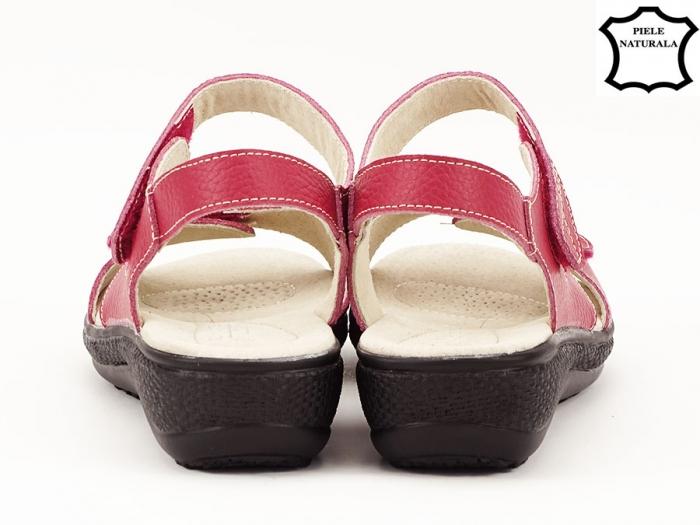 Sandale dama rosii din piele naturala Sara 3