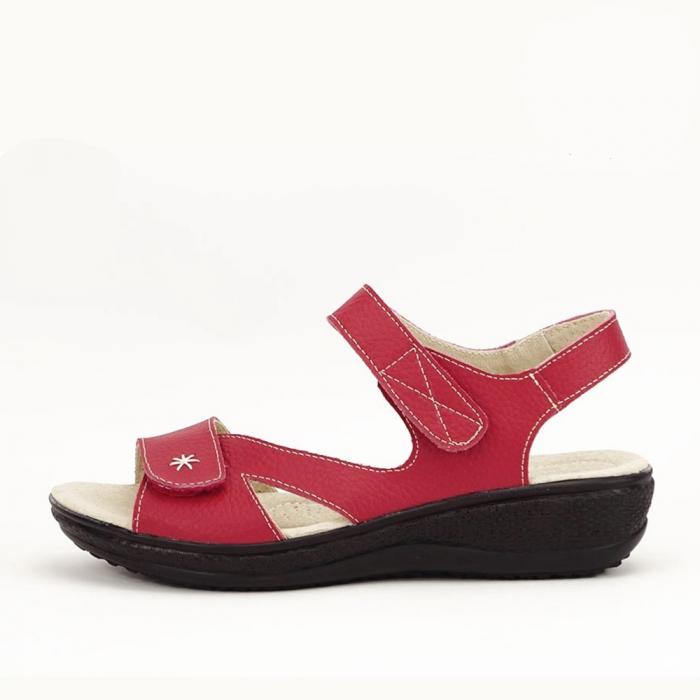 Sandale dama rosii din piele naturala Sara 0