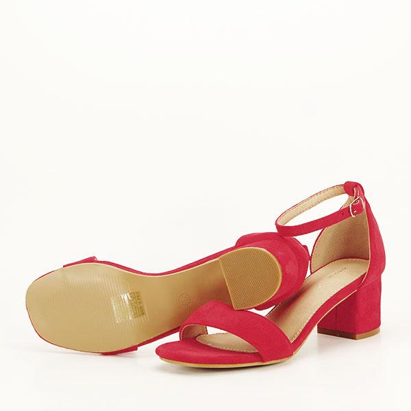 Sandale rosii din velur Lorena [6]