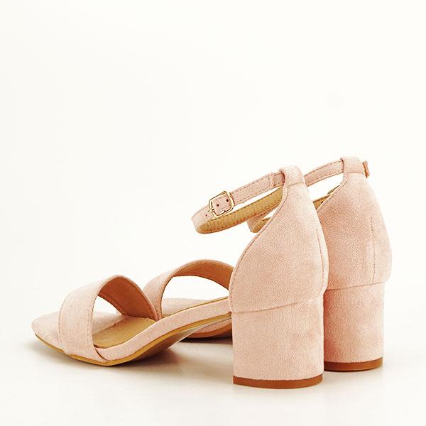 Sandale roz deschis din velur Lorena [3]