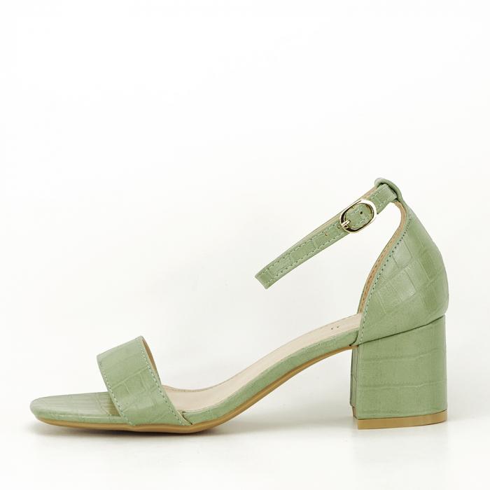 Sandale verde fistic cu toc gros Bella 0