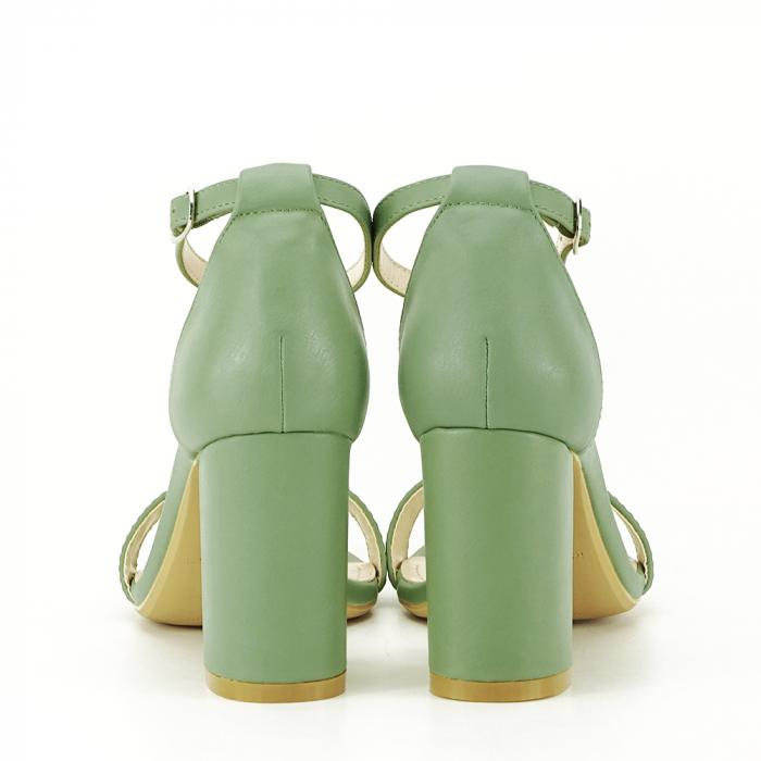 Sandale verde fistic cu toc gros Ingrid [4]