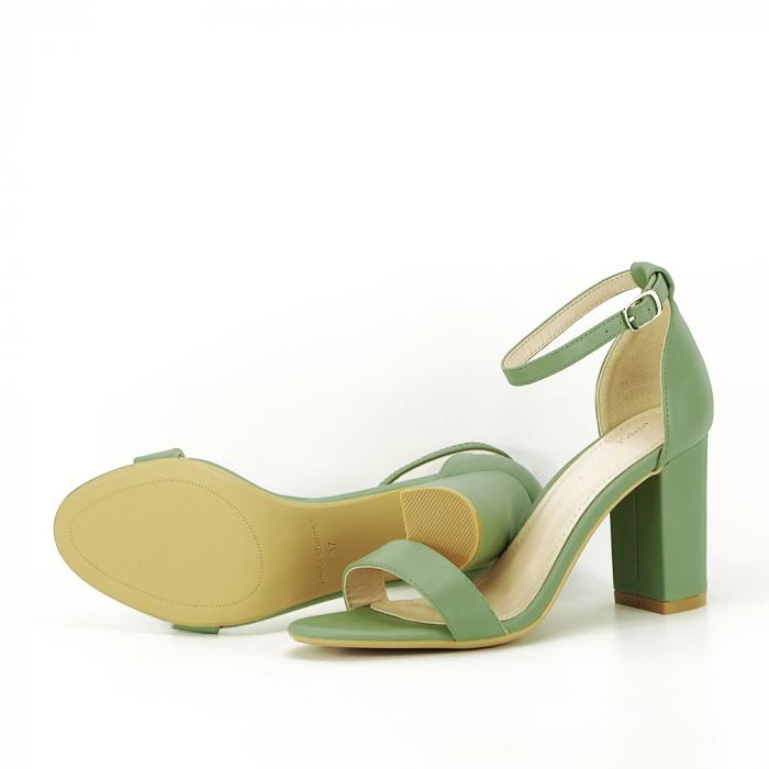 Sandale verde fistic cu toc gros Ingrid [5]