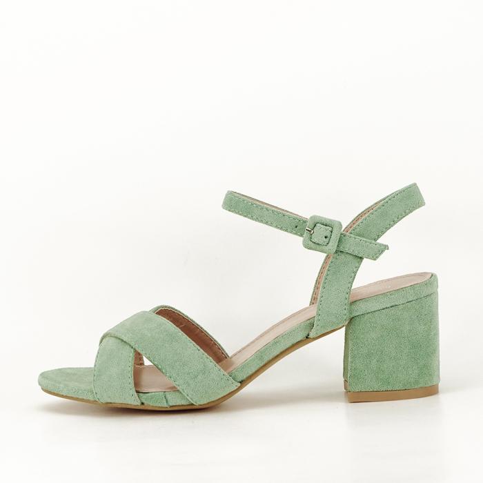 Sandale verde fistic cu toc mic Natalia 0