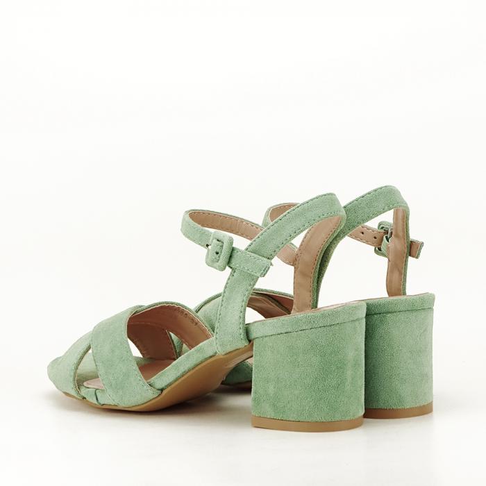Sandale verde fistic cu toc mic Natalia 2