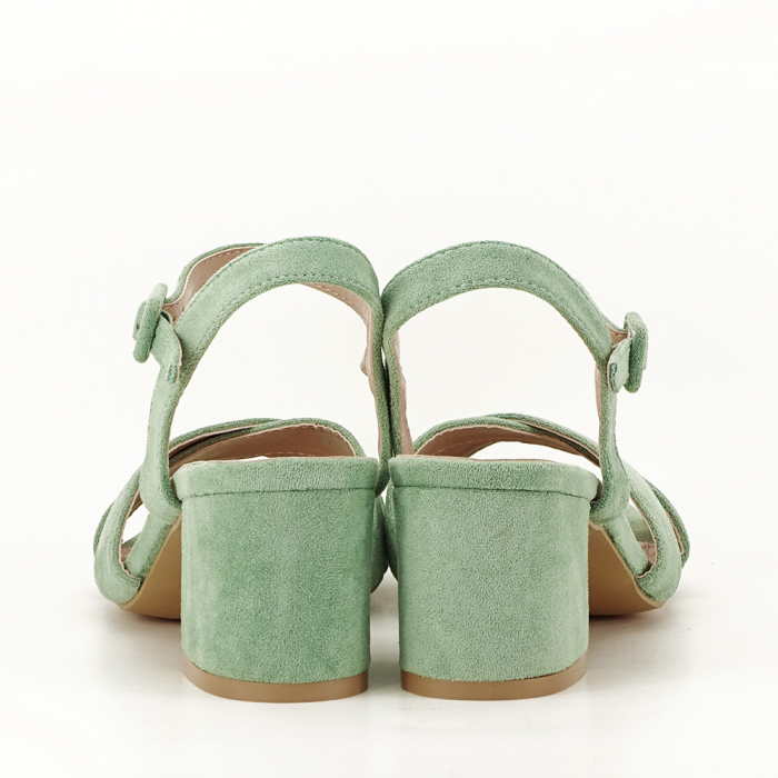 Sandale verde fistic cu toc mic Natalia 3