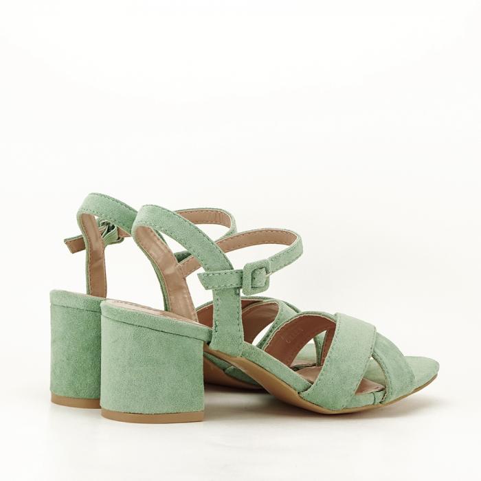 Sandale verde fistic cu toc mic Natalia 5