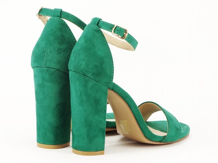Sandale dama verzi cu toc gros si bareta Mathilde 2