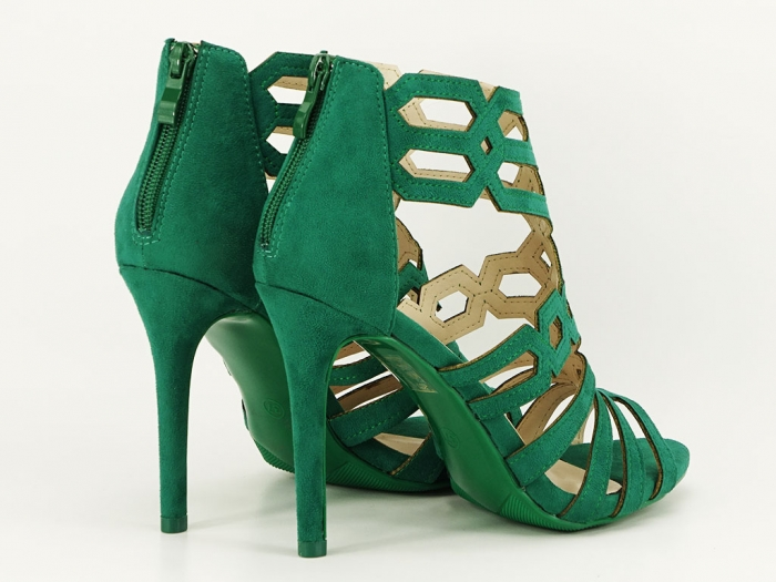 Sandale dama verzi cu toc inalt Serena 2