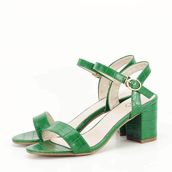 Sandale verzi cu imprimeu Violeta [2]