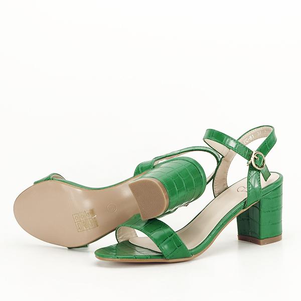 Sandale verzi cu imprimeu Violeta [7]