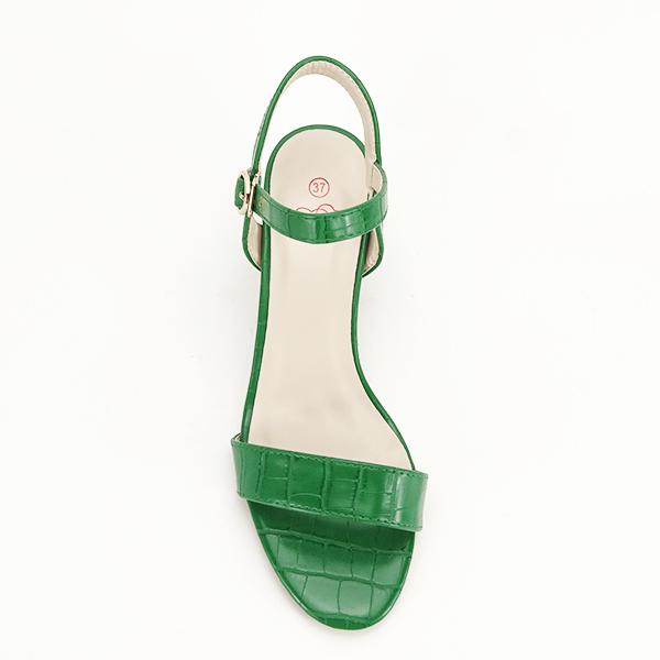 Sandale verzi cu imprimeu Violeta [1]