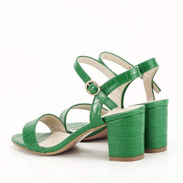 Sandale verzi cu imprimeu Violeta [4]