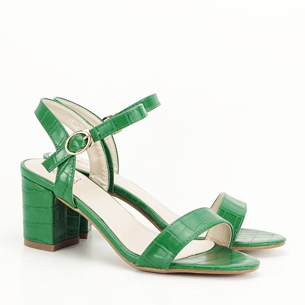 Sandale verzi cu imprimeu Violeta [3]