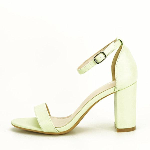 Sandale verzi cu toc gros Ingrid 2 [1]