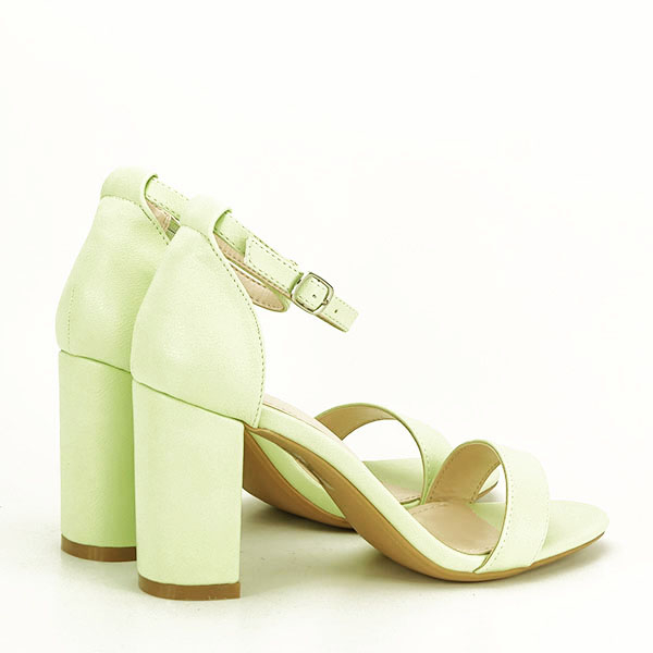 Sandale verzi cu toc gros Ingrid 2 [4]