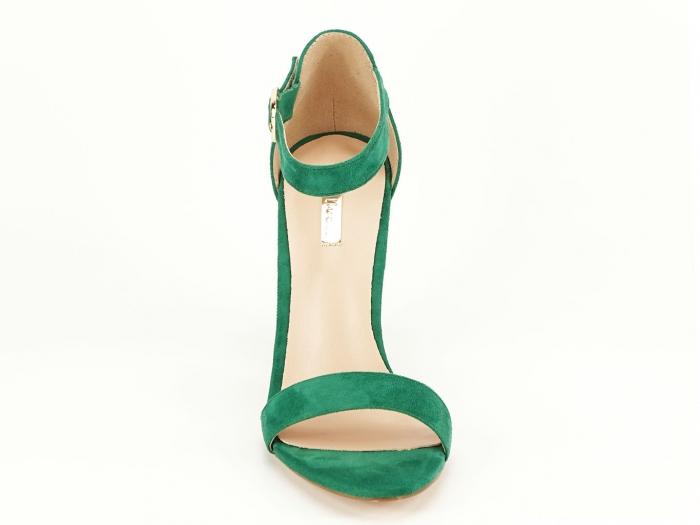 Sandale dama verzi cu toc inalt, gros Patricia 4