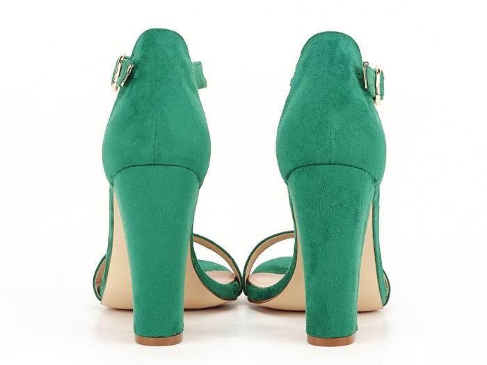 Sandale dama verzi cu toc inalt, gros Patricia 6