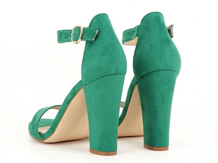 Sandale dama verzi cu toc inalt, gros Patricia 5