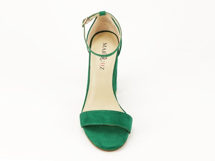 Sandale dama verzi cu toc gros si bareta Mathilde 3