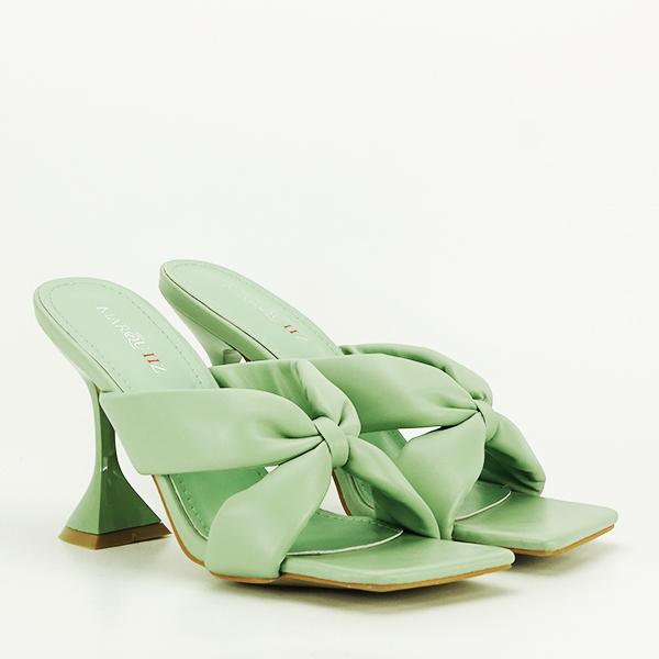 Sandale verzi cu toc Sonia [2]