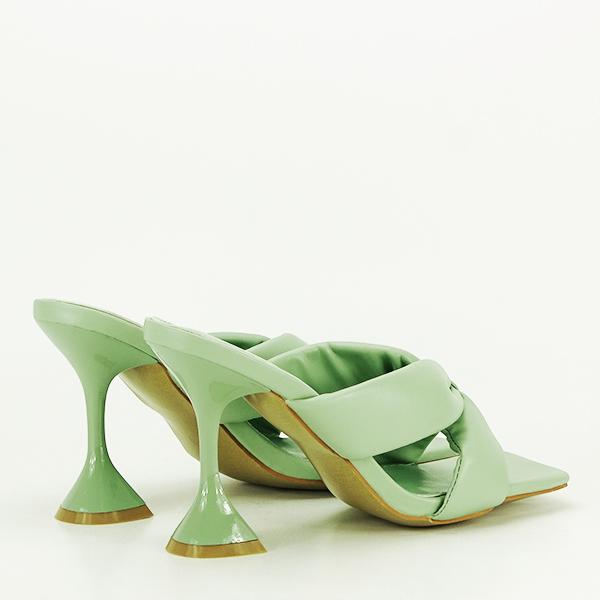 Sandale verzi cu toc Sonia [4]